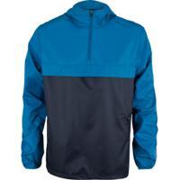 Blusão Corta-Vento Com Capuz Nord Outdoor Travel - Masculino - Azul/Preto