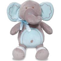 Pelúcia - 35 Cm - Elefantinho Meu Carinho - Buba - Masculino-Incolor