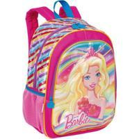 Mochila Grande Barbie 19X Infantil Sestini - Feminino-Rosa