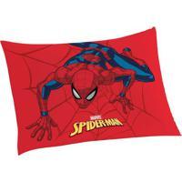 Fronha Spider Manâ®- Vermelha & Azul Escuro- 70X50Cm