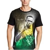 Camiseta Puma Usain Bolt Graphic Tee Masculina - Masculino-Preto