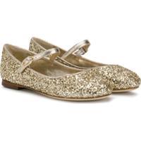 Prosperine Kids Glittery Ballerinas - Dourado