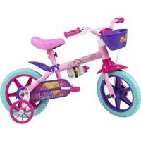 Bicicleta Aro 12 - Disney - Barbie - Rosa - Caloi