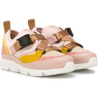 Chloé Kids Buckled Strap Sneakers - Rosa
