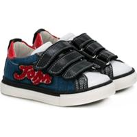 John Galliano Kids Tênis Jeans De Couro - Azul
