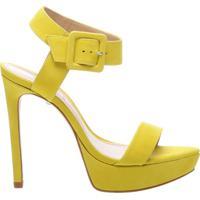 Sandália Salto Meia Pata Nobuck Yellow | Schutz