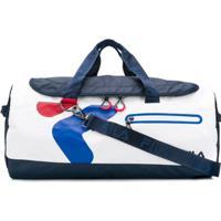 Fila Bolsa Esportiva Com Logo Contrastante - Azul