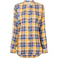 Closed Camisa Xadrez Com Gola Frade - Amarelo