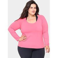 2782e17a0d Netshoes  Camiseta Plus Size Gonew Manga Longa Feminina - Feminino