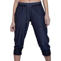 Calça Cropped Inspirate Com Bolso Jeans Azul