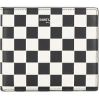 Saint Laurent Checkerboard Bi-Fold Wallet - Branco
