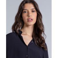 Camisa Manga Longa Clássica Preto Reativo - Lez A Lez