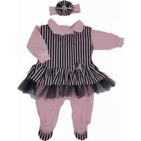 Kit I9 Baby Saída Maternidade Menina 5 Peças Bailarina