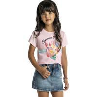Blusa White Infantil Rosa