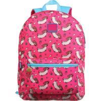Mochila Hot Dog- Pink & Azul Claro- 43X31X14Cm- Dermiwil