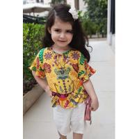 Blusa Amarela Infantil Aline Frade