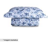 Conjunto De Colcha Taormina King Size- Azul Escuro & Brasultan