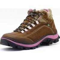 bf4c23597 Netshoes; Bota Adventure Couro - Feminino-Marrom