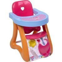 Cadeira De Papinha Para Boneca Coleção Ninos Reborn Papinha Baby Ninos - Feminino-Colorido