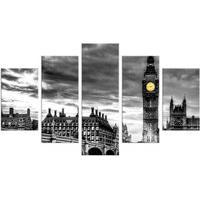 Conjunto De 5 Telas Decorativas Em Canvas London Médio Love Decor