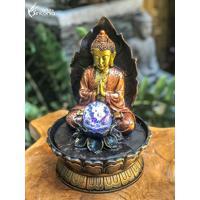 Fonte Decorativa Buda Bronze Orando