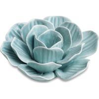 Flor Decorativa Em Relevo Com Bordas Irregulares- Azul