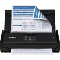 Scanner Compacto De Mesa Brother Ads1000W Usb Preto Wireless Com Velo