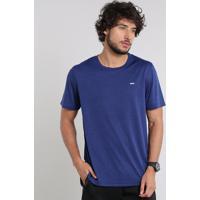 Camiseta Masculina Esportiva Ace Manga Curta Gola Careca Azul Escuro