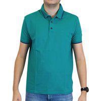 Camiseta Masculina Ellus Gola Polo Easa Frisos Verde Agua