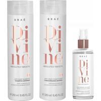 Kit Shampoo Condicionador E Máscara Líquida Braé Divine