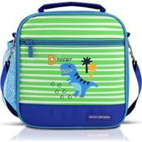 Lancheira Térmica Infantil Jacki Design Dino Masculina - Masculino-Azul