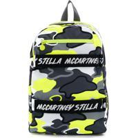 Stella Mccartney Kids Mochila Com Estampa Camuflada - Cinza