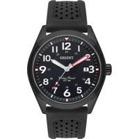 Relógio Orient Masculino Mpsp1013 P2Px Pulseira Silicone Mostrador Preto