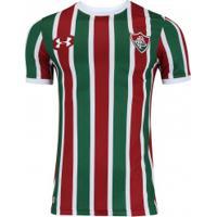 Camisa Do Fluminense I 2017 Under Armour - Masculina - Vinho Branco b01d228e914c0