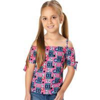 Blusa Rosa Ciganinha Lol® Menina Malwee Kids