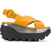Marni Sandália Plataforma - Amarelo