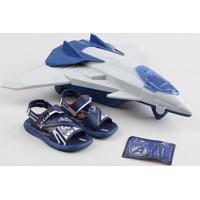 Papete Infantil Grendene Vingadores Com Avião Azul Marinho