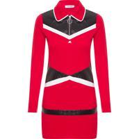 Vestido Com Recortes - Vermelho