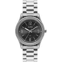 Relógio Euro Aro Spikes Feminino - Feminino-Prata