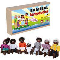 Família Terapêutica Carlu Com 7 Personagens Marrom/Branco