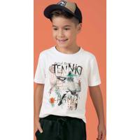 Camiseta Estampa Com Relevo Branco Cativa Kids