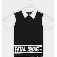 Camisa Polo Infantil Fatal Swag Masculina - Masculino