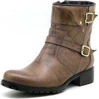 Bota Atron Shoes Cano Curto Castor - Feminino