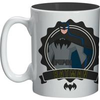 Caneca Batman Urban Branca De Porcelana 300Ml Urban Home