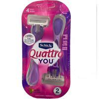 Schick Aparelho De Barbear 2 Unidades - Quattro You