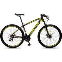 Bicicleta Aro 29 Quadro 17 Câmbio Tras. Shimano 21V Freio Mecânico Vega Preto/Amarelo - Spaceline