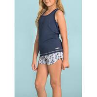 Pijama Infantil Short Doll Coqueiros 111363 Lua Encantada