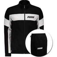 Agasalho Puma Rebel Sweat Suit Preto
