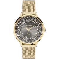 Relógio Feminino Technos 2035Mlg/4C Pulseira Aço Dourada - Feminino-Dourado