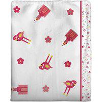 Cobertor Incomfral Coelinha Para Bebê 70 X 90Cm Branco/Rosa